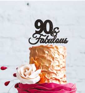 Image Is Loading 90th Birthday Cake Topper 90 Amp Fabulous