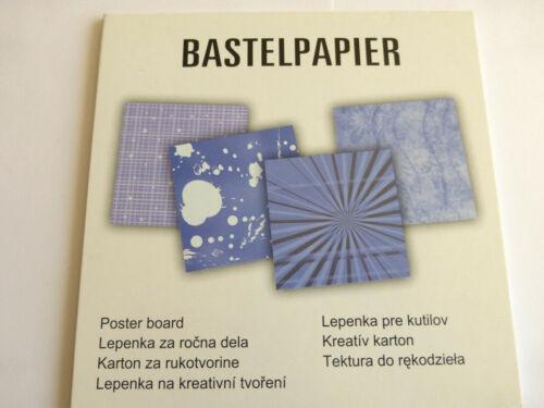 Hintergrundpapier Bastelpapier 24 Blatt Scrapbooking Basteln Kartengestaltung