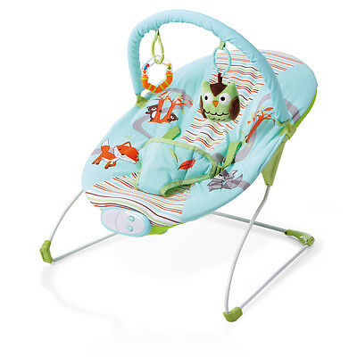 Zobo Woodlands Bouncer, Soft Cushion Baby Rocking Napping Chair