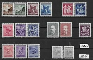 6279-MNH-Regular-Multiple-stamp-sets-B-a-M-WWII-Occupation-Third-Reich