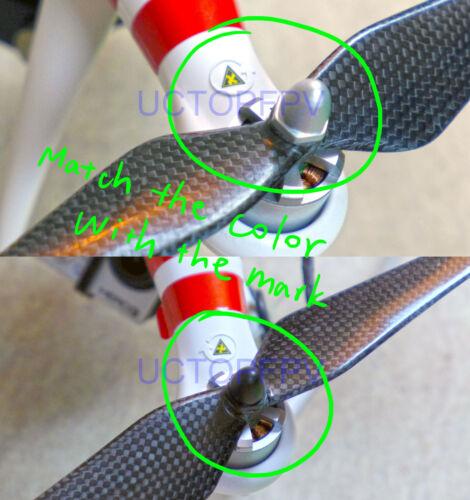 Self-tightening Locking Nuts 4x CW/&CCW DJI Phantom 2 Vision Carbon Fiber Props