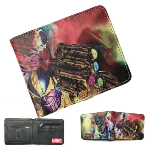 Thanos Infinity Gauntlet 3D Metal Logo Wallet Purse PU Leather Marvel  Wallets