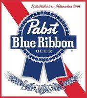 Pabst Blue Ribbon Iron On T Shirt Pillowcase Fabric Transfer 4 - Square Logo
