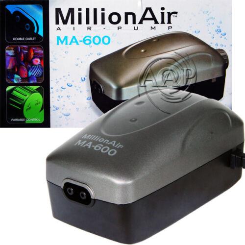 Million Air 600 Aquarium Adjustable Air Pump by Via Aqua from AAP