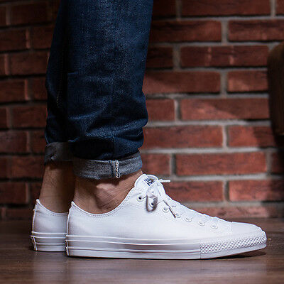 Mens white converse low