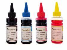 4 Universal Printer Refill Ink dye Bottles for CISS or Refillable Cartridge