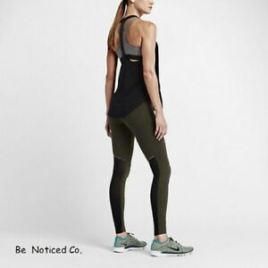 Nike-Sculpt-Cool-Women-039-s-Training-Tights-XS-Green-Black-Gym-Training-Casual-New