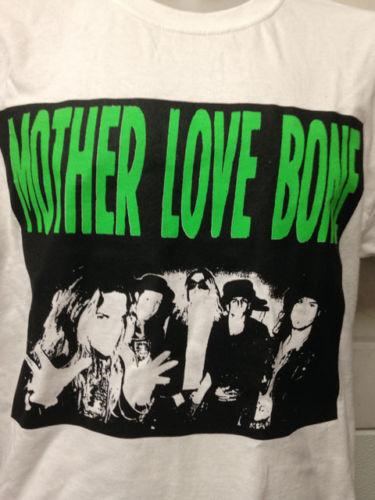 MOTHER LOVE BONE - WITH BACK PRINT -  HALF ASS -  MUSIC T SHIRT