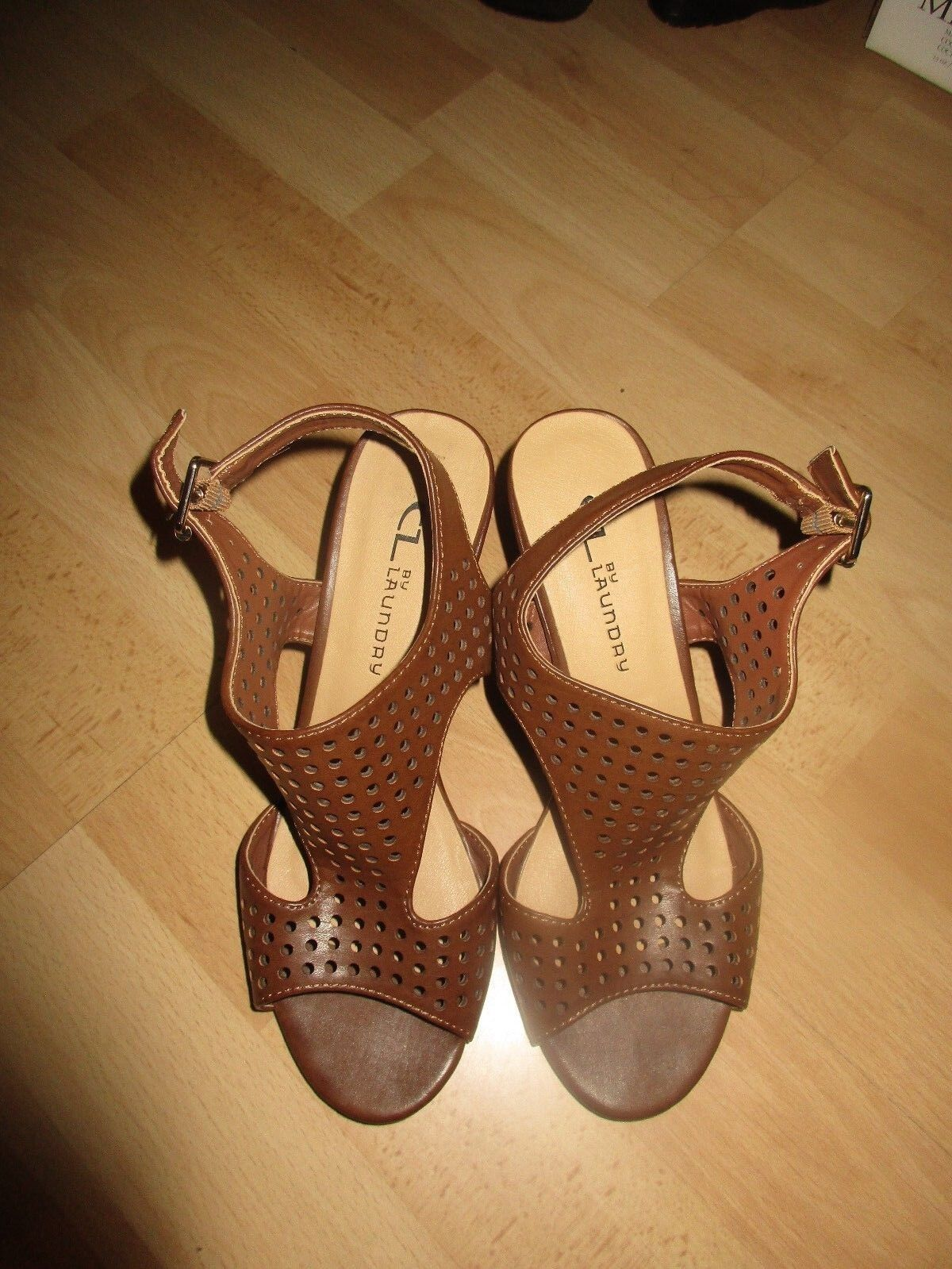 Women's CL Laundry Brown 6 sandals size 6 Brown M* 9b73e0