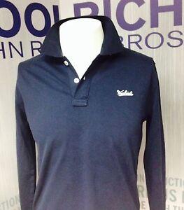 Lunga Manica Polo Woolrich Blu S Uomo qIqX7Zw8x