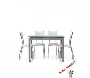 Tavolo Allungabile Vetro Satinato.Tables Chairs Tavolo Vetro Satinato Struttura Alluminio