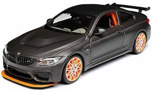 BMW-M4-GTS-1-24-escala-Diecast-Coche-de-Juguete-Modelo-Die-Cast-Miniatura-Serie-De-Saten-Gris