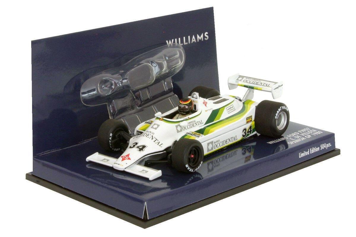 Minichamps Williams FW07 #34 Espagnol GP GP GP 1980-Emilio De Villota échelle 1/43 88c3b2