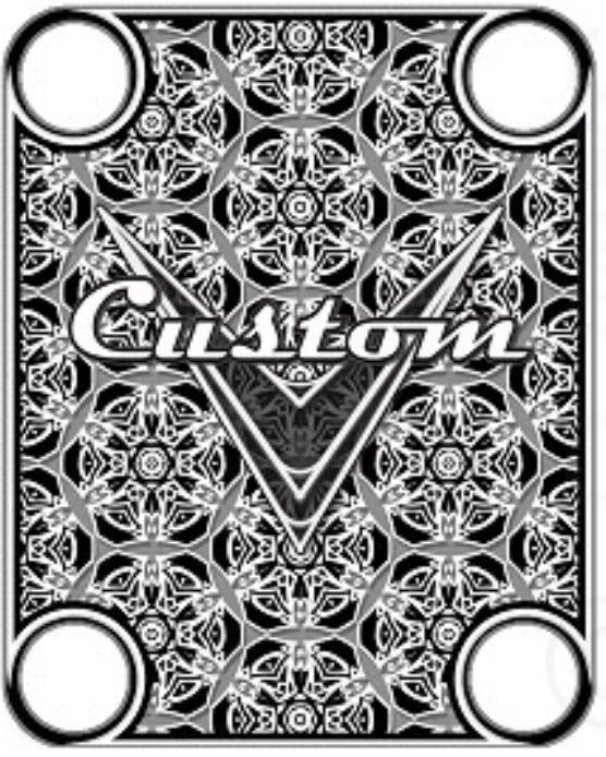 Hals flach - custom - schwarz - für Gitarre & Bass