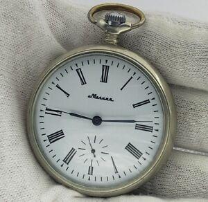 SOVIET-Vintage-Pocket-Watch-USSR-MOLNIJA-SHIP-cal-3602-18-Jewels