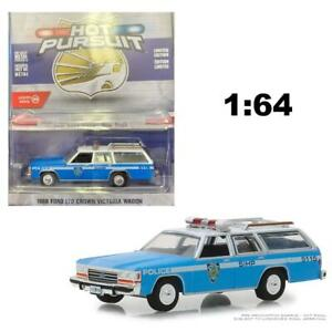 GREENLIGHT-42870C-1988-FORD-LTD-VICTORIA-WAGON-NYPD-POLICE-DIECAST-CAR-1-64