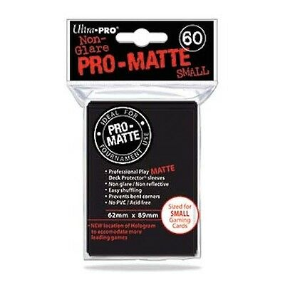 360 Ultra Pro Deck Protector Card Sleeves Pro Matte Black Small Yugioh Vanguard