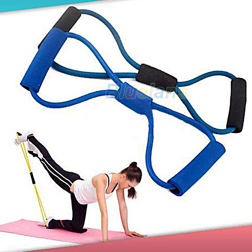 GREAT FUNKY FITNESS EQUIPMENT TUBE WORKOUT EXERCISE ELASTIC RESISTANCE YOGA BAND