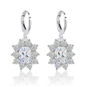 Sunny-Wedding-Jewelry-White-Gold-Filled-Oval-Cubic-Zircon-Drop-Earrings-For-Lady
