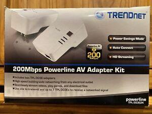 Brand New TRENDnet TPL-303E2K - 200bps Powerline AV Adapter Kit Complete