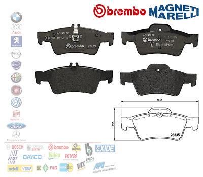 GENUINE BREMBO BRAKES FRONT BRAKE PAD SET P50053 /& REAR BRAKE PADS P50052