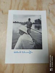 Albert Schweitzer in Afrika original Autogramm sehr Selten! Ogowe River