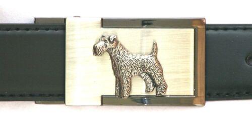 Fox Terrier Ceinture à Boucle et ceinture en cuir en Boîte Cadeau Idéal Chasse présents 143