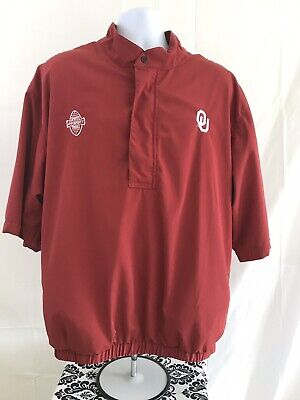 Mens Xl Sports University Tours Ohio University Red Pull Over Rain Gear Moderate Cost Activewear