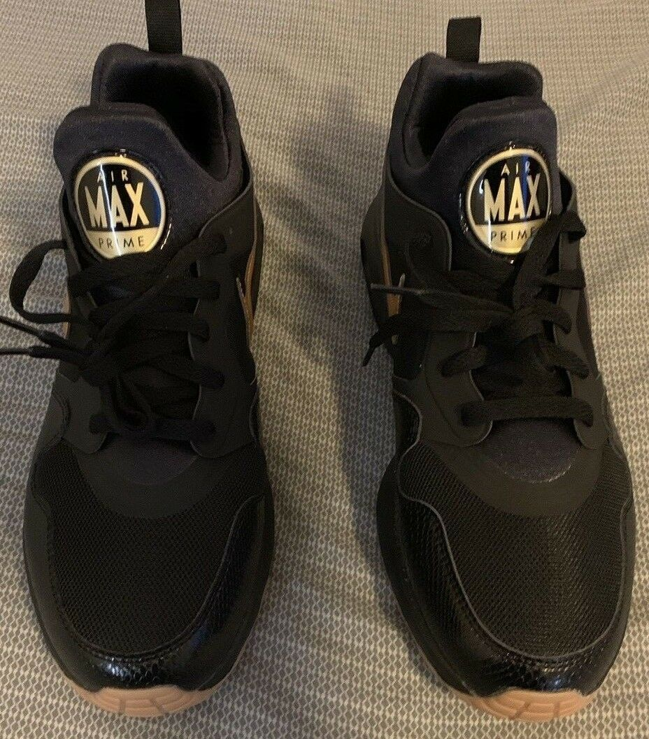 Nike Men's Air Max Prime Black Metallic gold  Size 11