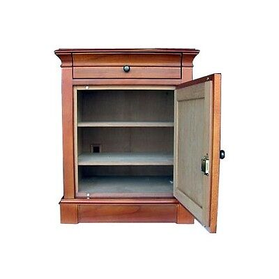 CIGAR HUMIDOR 500 + ct End Table Neo Maple + Hydra SM Electronic Humidifier