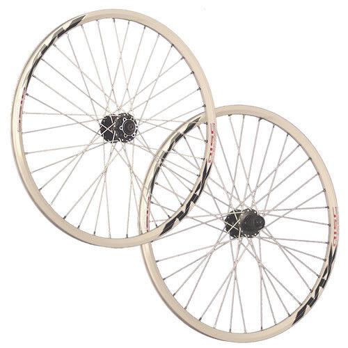 Taylor Wheels 26inch bike wheel set Mach1 MX Disc Shimano M475 6 holes white
