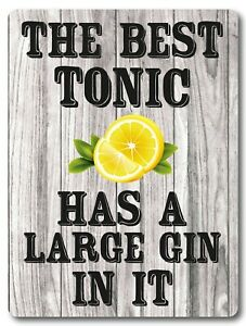 When life gives you lemons Gin Bar Sign Metal Gin Plaque Gifts Bar Kitchen,