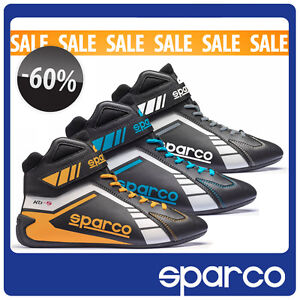 SALE-Scorpion-Shoes-Sparco-KB-5-Black-Grey-Blue-Yellow-Karting-Racing-Boots