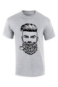 Barbe-pipe-barque-T-shirt-Smart-elegant-Barbe-Qualite-Noel-Cadeau-de-Noel-Tee