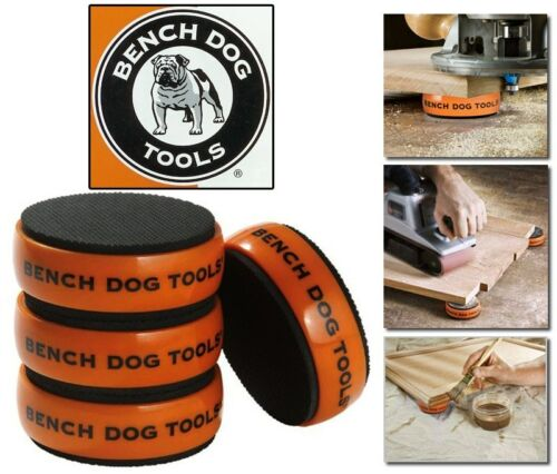BENCH DOG SET1 Werkstückstopper 4 Cookie 4xSpitzen Antirutschmatte 989466/143546