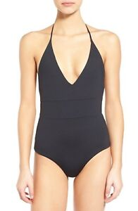 b30fa57dcca1d NEW $130 TAVIK Swim Chase Solid Plunge Cheeky One-Piece Swimsuit S ...