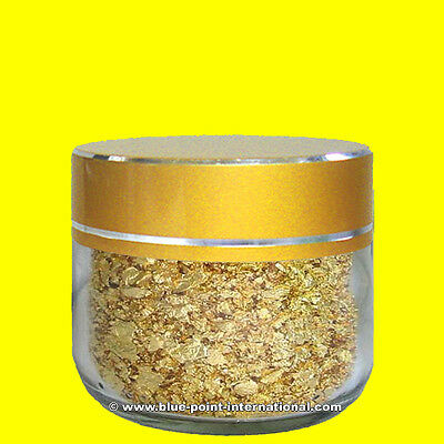 Goldflocken - Gold Flakes 100mg - ESSBAR - 999/1000 rein - 24 Karat - Blattgold