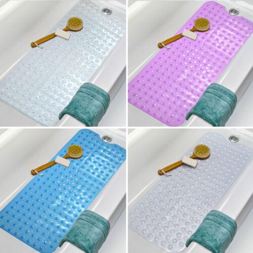 Non-Slip Extra Long Bath Shower Mat Suction Grip 30/% Longer M/&W