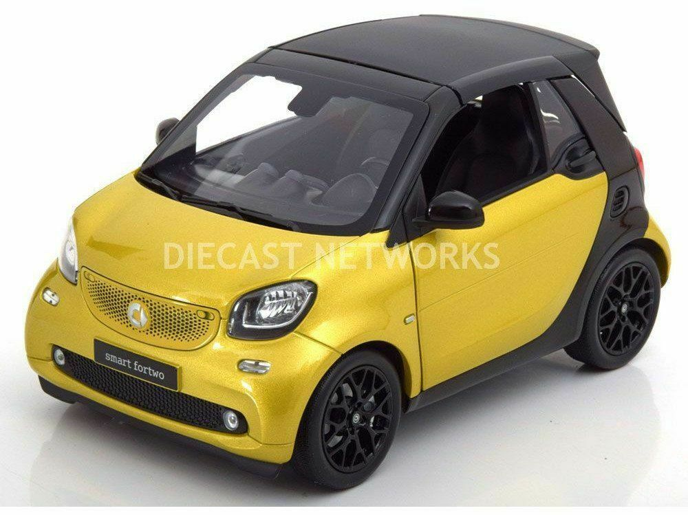 Smart Model Cars, Mercedes, 1 18 Scale, Smart 2 Seater - Yellow