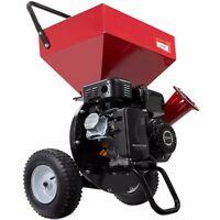 Powerful 6.5 Hp Gas Powered Wood Chipper Shredder Quickly Reduce Leaf Mulchers