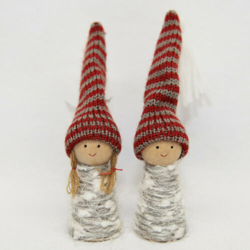 Pair of Nordic Scandinavian Gnome Tomte Nisse Ornaments Boy /& Girl