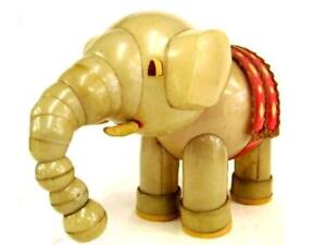 Vintage Old Celluloid Elephant Figure Showa 20's 20 cm from Japan