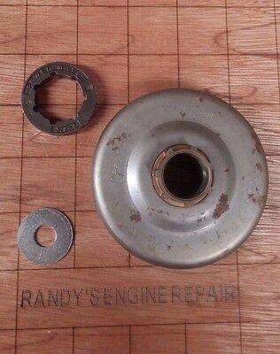 Clutch Drum Rim Sprocket Oil Pump Set For Husqvarna 51 55 Rancher 50 Chainsaw