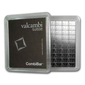 Valcambi Suisse 100g CombiBar Sheet .999 Fine Silver Bars (100x1g w/Assay)
