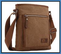 Mens Heavy Duty Shoulder Bag 12x10.5 In. Messenger Satchel Travel Crossbody Book