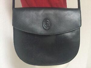 96d13bbd404ee Das Bild wird geladen DISSER-Leder-Tasche-Vintage-Schwarz-Klassisch