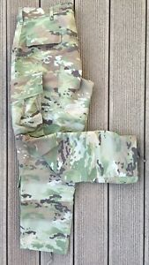 Bekleidung Angelsport US A-TACS FG Foiled Green ACU Army pants ATACS Hose Tarnhose Large Short