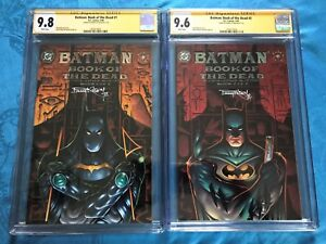 Batman-Book-of-the-Dead-1-2-set-DC-CGC-SS-9-8-9-6-Signed-by-Barry-Kitson