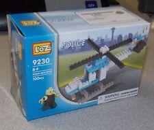 Loz Micro Building Blocks Police Helicopter 100 PC Set Brand New