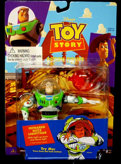 1995 buzz lightyear infrared action figure thinkway toys disney toy